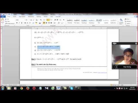 Toán lớp 6 - Bài 3 - Lũy thừa với số mũ tự nhiên và các bài toán liên quan (HS Tuấn)