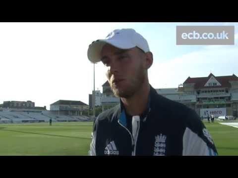 Stuart Broad praises England's bowlers after tough day against India