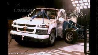 Chevy Colorado Extended Cab / GMC Canyon | 2010 | Side Crash Test | NHTSA | CrashNet1 videos