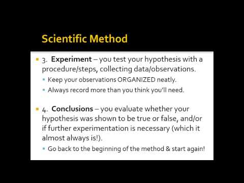 Unit 1: Scientific Method & Variables