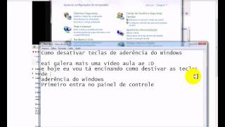 Como Desativar Teclas De Aderência Do Windows