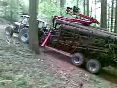 Forstarbeit mit Holzwagen PATU 8HD