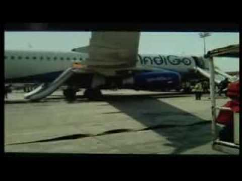 Indigo Airlines's tires on fire at Tribhuwan Int Airport