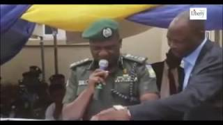 Nigeria Inspector General of Police are reading speech to congregation transmissions
