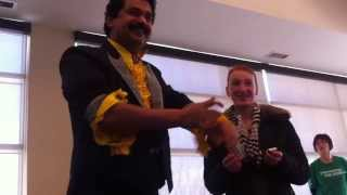 Mississauga Magician Raj Burning paper to Bill