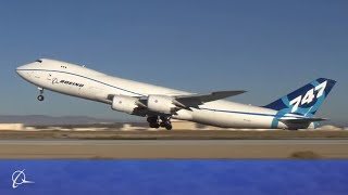 Boeing 747-8 performs ultimate rejected takeoff