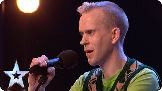Robert White performs comedy song about the Judges!   Auditions Week 1   Britain's Got Talent 2018
