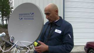 How to set up an fta satellite system or aligning an FTA dish