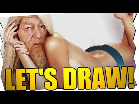 SEXY DUMBLEDORE! - Let's Draw (2. ADVENT)