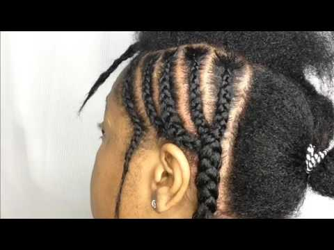 My Simple Braiding Pattern | Middle Part Sew-In or Quick-Weave Braiding Pattern
