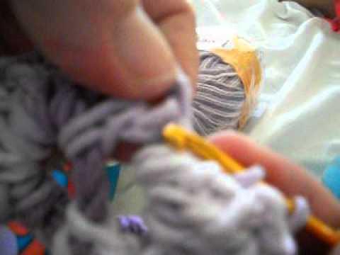 quadrado de crochet para fazer tapete de barbante ,passo a passo ...