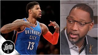 Paul George 'reinvented' himself, should be in NBA MVP conversation - Tracy McGrady | The Jump