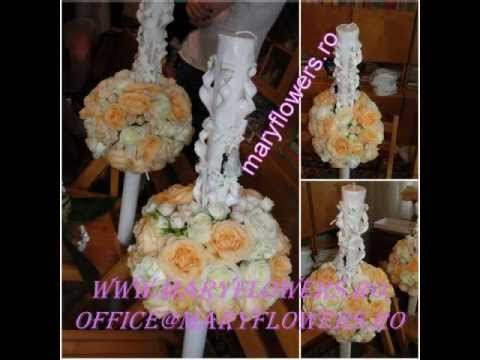 lumanari maryflowers....aranjamente florale,buchete