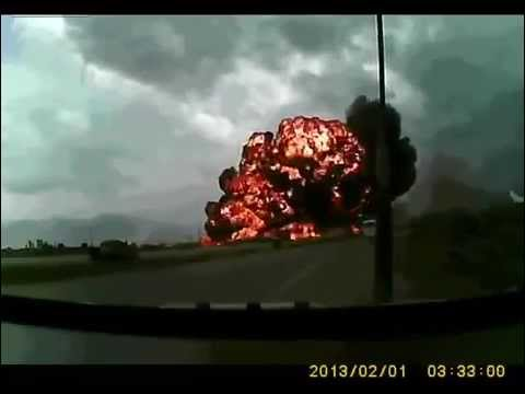 Bagram Airfield Plane Crash 2013 caught on tape Boeing 747