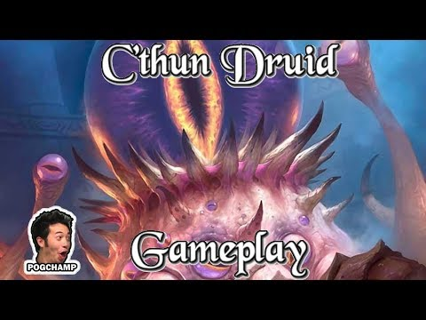 Gameplay: Den's C'Thun Druid Kobolds And Catacombs (Hearthstone Guide Hoe to Play)