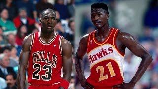 Dominique Wilkins VS Michael Jordan | 'Nique 57 Points, MJ 41 | 12.10.86
