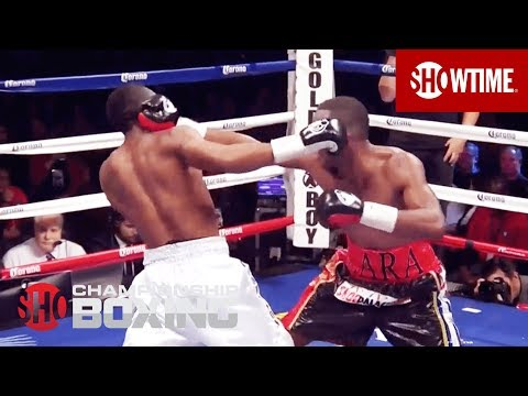 Austin Trout Knocked Down By Erislandy Lara - SHOWTIME Boxing