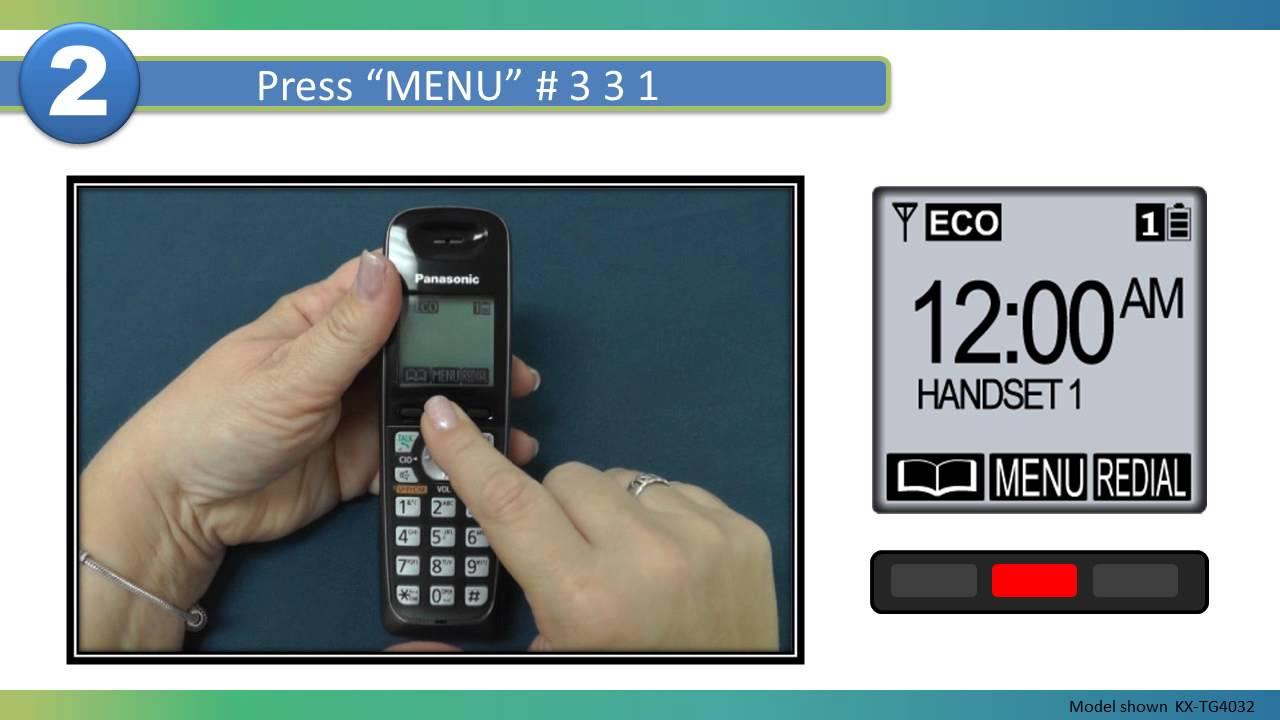 how to set time on panasonic cordless phone kx-tgc220al