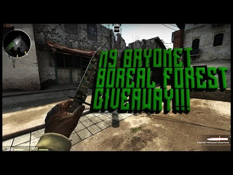 CSGO KNIFE GIVEAWAY M BAYONET BOREAL FOREST OPEN - Skiny do minecraft namemc