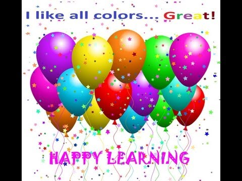 Balloon Colors - Learn All Colors - Kids Videos -Color Song for Children