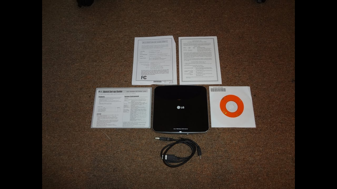 lg slim portable dvd writer gp40 driver