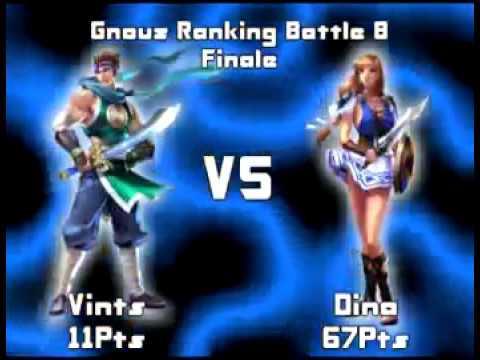 [Gnouz RB8 - Final]   Soul Calibur 3 : Vints (Hwang) vs Dina (Sophitia)