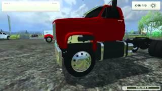 Farming Simulator 2013 Mods- Kenworth W900, F450, GMC