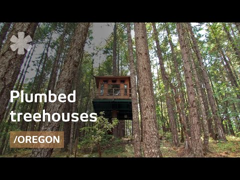 Fully plumbed DIY treehouses & tree-cabin in OR