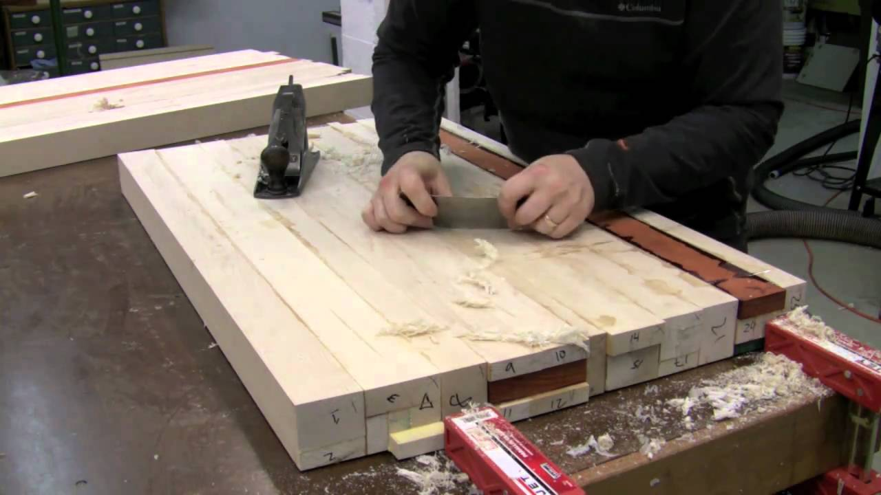 Butcher Block Countertop  Glue Up  YouTube - Cleaning Butcher Block Counter