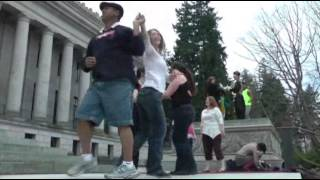 Dozens Shimmy, Shake to Protest Wash. Dance Tax