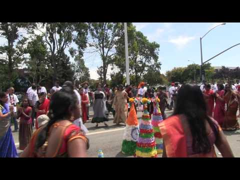 Bathukamma in Bayarea Telangana float in FIA 21st annual festival of India