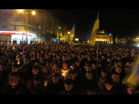 "#Евромайдан: Молебен за ""Небесну сотню"" у Житомирі. Майдан 26.02"