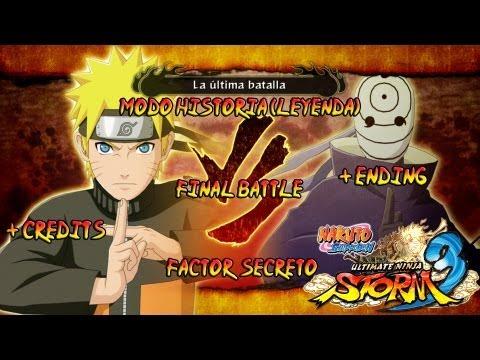 Naruto Shippuden: Ultimate Ninja Storm 3 Walkthrough + Full Burst - Parte 34  Batalla Final Naruto vs Tobi + Ending Creditos Gameplay Español/Japanese Xbox360/PS3