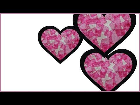 Bricolage saint valentin coeur en vitrail youtube - Pinterest st valentin bricolage ...