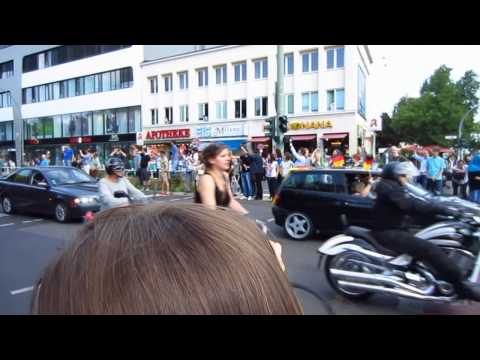 2014 World Cup Champions - German National Team's Convoy in Berlin - Moabit