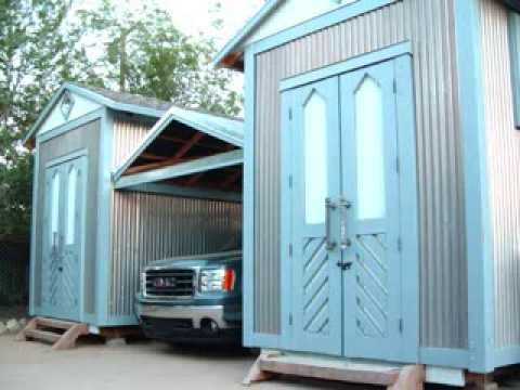 Built Insane Twin Sheds Retractable Roof Carport: carport with storage room