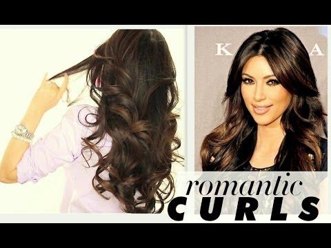 kim kardashian big curls tutorial cute long hairstyles