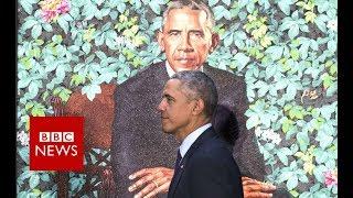 Obama's portrait unveiled - BBC News