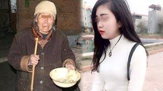 """Bà cụ ăn mày tới gần cô gái nói """"Cô ơi, cho tôi chỗ cơm thừa này nhé"""" và cái kết..."""