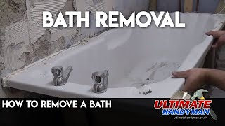 How to remove a bath