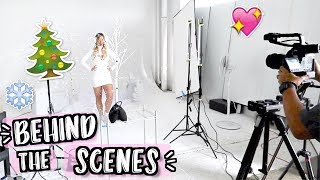 Behind the Scenes! Alisha Marie's Christmas Intro!! Vlogmas Day 6