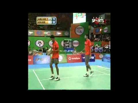 IBL 2013   Semi Final 2  Awadhe Warriors vs  Mumbai Master men u0027s double 1)