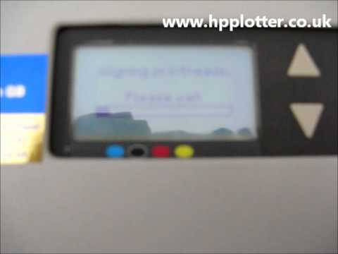 Designjet 500/800 Series - Printhead alignment on your printer