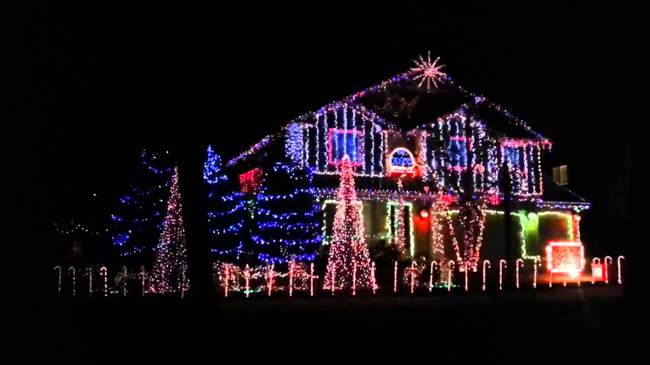 Dubstep Christmas Lights - YouTube