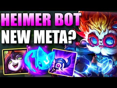 HEIMERDINGER BOT LANE WAS PLAYED IN LCS? WHY DOES HE WORK AS ADC? - League of Legends Gameplay