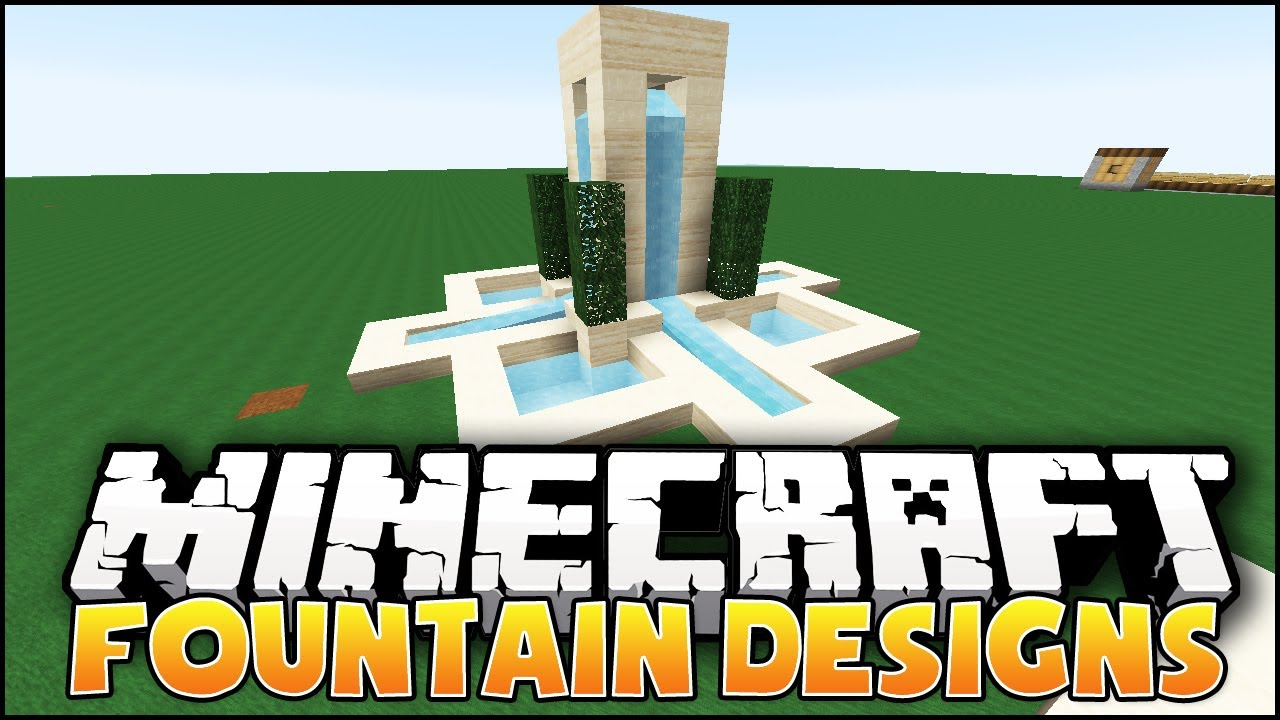 Minecraft Fountain Designs Ideas YouTube