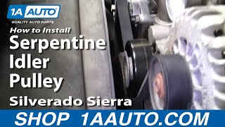 How To Install Replace Serpentine Idler Pulley Silverado