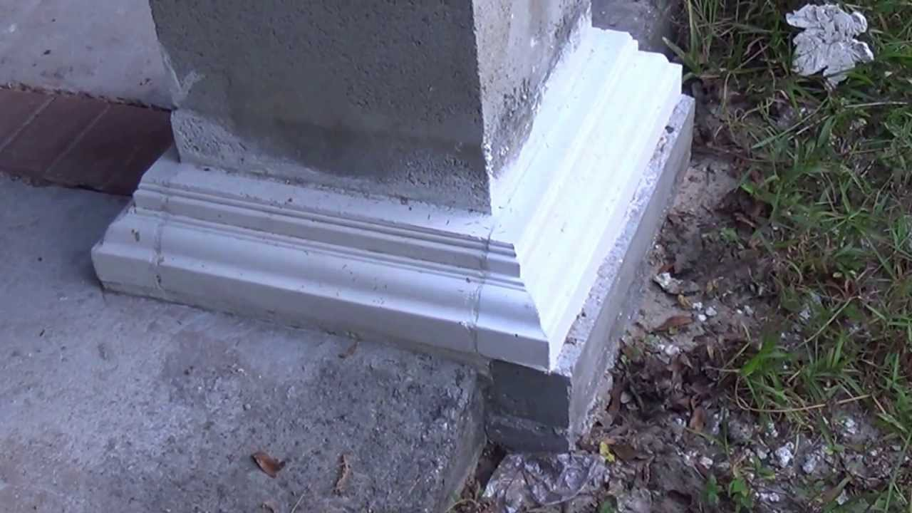 crown columns fiberglass concrete column base and crown molding 2 videos video 1