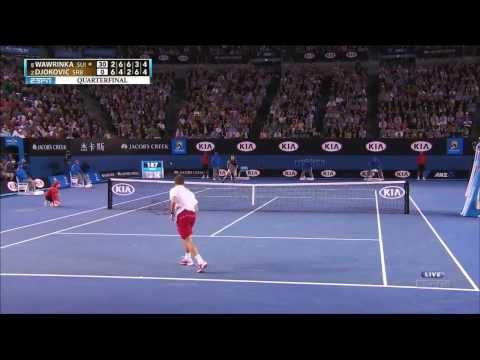 Stanislas Wawrinka vs Djokovic Aus  Open 2014 1280 x 720