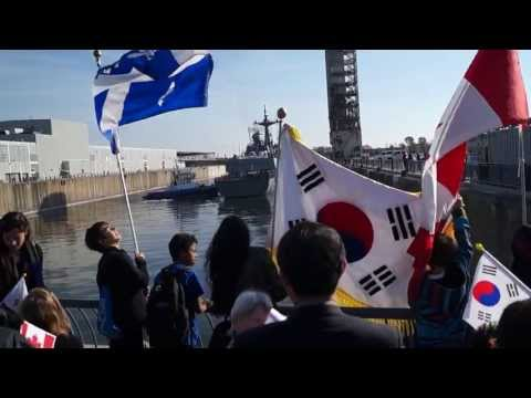 South Korean Destroyer ROKS Dae Jo Yeong Berths In Old Port Of Montreal 10